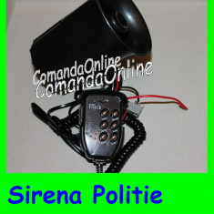 Sirena Politie cu 6 melodii si Volum !! Include acel Crr-it de Politie - Sirena Auto