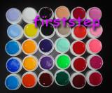 Kit unghii false cu gel set 30 gel uv color geluri colorate lampa uv 8ml Miley gel pur Cadou tatuaje sticker aqua motiv craciun, Gel colorat