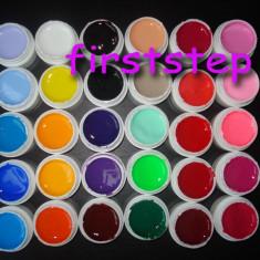 Kit unghii false cu gel set 30 gel uv color geluri colorate lampa uv 8ml Miley gel pur Cadou tatuaje sticker aqua motiv craciun - Gel unghii