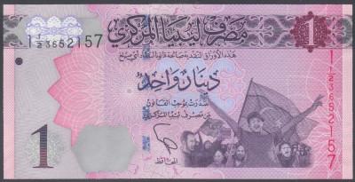 Libia 1 dinar UNC foto