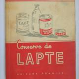 CONSERVE DE LAPTE C.Telescu - Carti Industrie alimentara