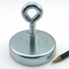 Magnet neodim fishing - detector metale ( pt apa) - puternic 160kg fier