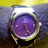 Raritate LANCO ceas barbat swiss original curea noua sport geam  cristal