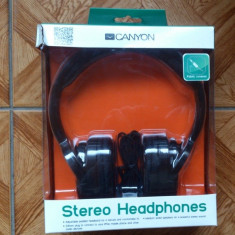 Casti stereo Canyon - 45 lei, Casti On Ear, Cu fir, Mufa 3, 5mm