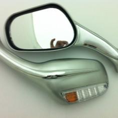 Oglinzi cu semnalizare argintii - Oglinzi Moto