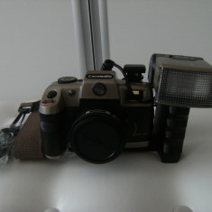 Camera foto veche canon Canomatic, cu blitz si geanta originala, stare perfecta ! - Inel adaptor obiectiv foto