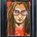 Portret - semnat Olah Andras - Pictor roman