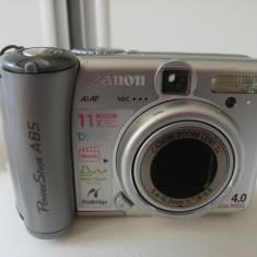 Aparat foto Cannon PowerShot A 85, de 4 megapixeli , stare buna de functionare, pret  acceptabil.