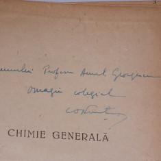 GHIMIE GENERALA-COSTIN NENITESCU- CONTINE DEDICATIA, AUTOGRAFUL AUTORULUI