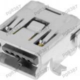 Conector mini USB B mama, SMT, ECE ESB34101000Z - 004379
