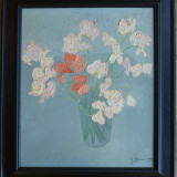 Vaza cu flori - semnat  G.Bailogh ?