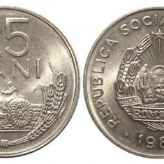 ROMANIA 25 BANI 1982 UNC DIN FISIC, Aluminiu