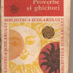 (C4874) PROVERBE SI GHICITORI, EDITURA ION CREANGA, 1973, ANTOLOGIE SI PREFATA DE A. ADASCALITEI - Carte Proverbe si maxime
