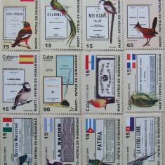 CUBA 2010 - PASARI SI DRAPELE DIN AMERICA DE SUD, 12 VALORI NEOBLIT - E1560