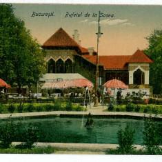 22 - BUCURESTI, Bufetul de la Sosea - old postcard - unused - Carte Postala Muntenia 1904-1918, Necirculata, Printata