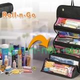 Geanta Organizatoare Pentru Cosmetice Accesorii -- Roll - N - Go Cosmetic Bag - Geanta cosmetice