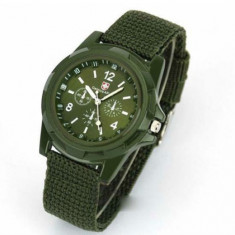 Ceas GEMIUS ARMY foarte rezistent  verde inchis +  ambalaj cadou