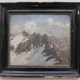 MUNTI - ULEI PE PANZA LIPIT PE CARTON - SEMNAT STANGA JOS - F. DRACSEL 1922 - DIMENSIUNI 30 X 25 CM ( 37 X 32 ) - Pictor roman