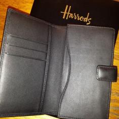 Husa de piele lucrata manual tip portofel pentru Galaxy S4
