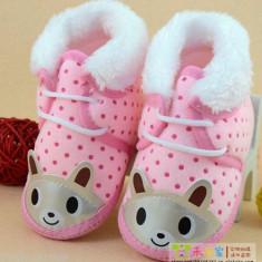Botosei bebe, fetite, 6-9 luni, 12 cm - Botosi copii, Culoare: Roz, Roz