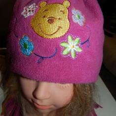 Caciulita pentru fetite, marca Disney, cu Ursuletul Winnie, Winnie the Pouh, marimea 2-3 ani, cu urechi - Caciula Copii
