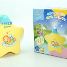 Proiector pentru camera copilului cu melodie de leagan