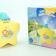 Proiector pentru camera copilului cu melodie de leagan - Lampa veghe copii