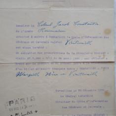 Ordin de misiune, Document militar francez original, Versailles, 1924 + altele