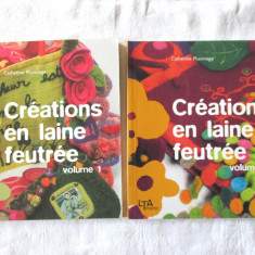 CREATIONS EN LAINE FEUTREE, Vol. 1+2,  Catherine Pluvinage, 2006. Absolut noua, Alta editura