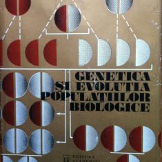 GENETICA SI EVOLUTIA POPULATIILOR BIOLOGICE - Nichifor Ceapoiu - Carte Biologie