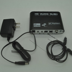 Convertor Audio optic, toslink, Gear DTS/AC-3/6CH  Decoder 5.1, mufe RCA