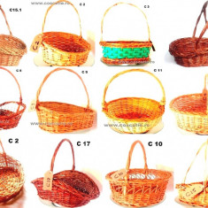 Cosuri Traditionale Romanesti impletite din Rachita cu Toarta- marimi si forme diferite