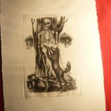 Grafica-semnat Smalenic L- Ultimul Berevoi, nr. 2/6, dim.=14, 1x20, 8cm - Pictor roman