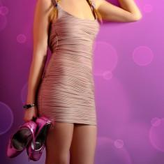 Rochie cu spatele gol, Mini, Sexy, Club, Bershka Dressy Collection, Marime XS - Rochie de club, Culoare: Din imagine, Marime: 34