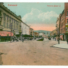 23 - CLUJ, street Ferencz Jozsef - old postcard - unused