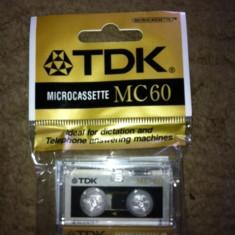 Micro caseta microcaseta microcassette TDK MC 60 panasonic sony lot 6 casete