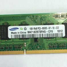 Memorie laptop Samsung 1GB DDR3-1066 PC3-8500 CL7, M471B2873FHS-CF8 (1116) - Memorie RAM laptop Samsung, 1066 mhz