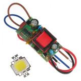 Led SMD 10 W cu Alimentare 220 V Echivalent bec 100 W cu Incandescenta, Becuri LED, Calda (2000 - 3499 K)