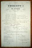 05. ITALIA UMBERTO I BREVET INALTARE IN GRAD CAPITAN BORDO LUIGI 1884