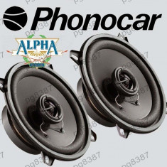 Difuzor auto 13cm, 60W, PHONOCAR ALPHA 66/023, cu doua cai - 000904 - Boxa auto Phonocar, 41-80W