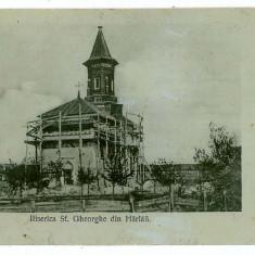 97 - Botosani, HARLAU, church Sf. Gheorghe - old postcard - used - 1907 - Carte Postala Moldova 1904-1918, Circulata, Printata