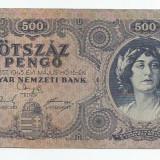 LL bancnota Ungaria 500 pengo 1945 (#0940) AUNC cu eroare!
