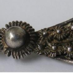 Brosa veche din argint cu filigran - de colectie (2) - Brosa argint