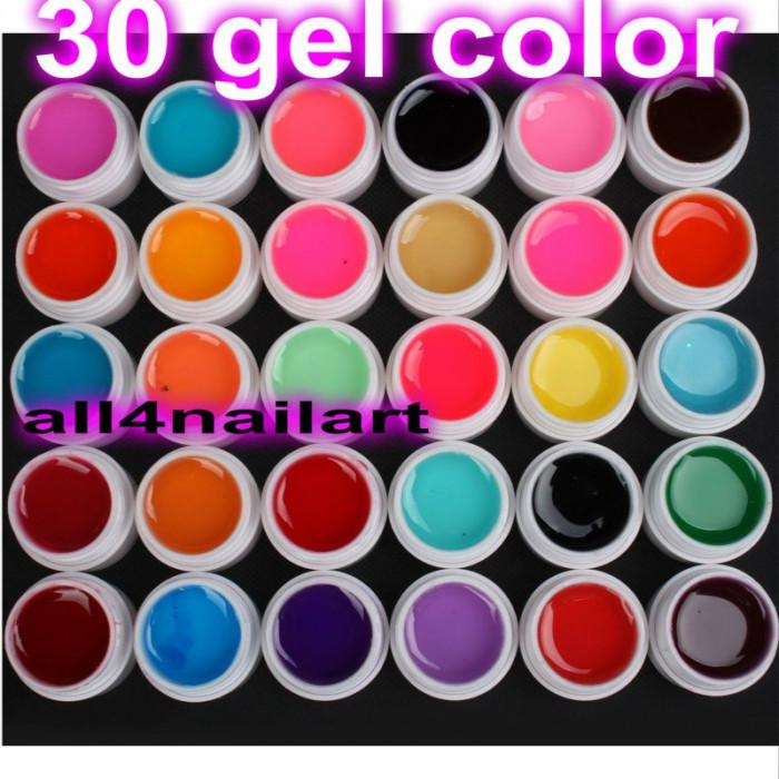 Gel color 30 buc   Set kit unghii false gel  Manichiura Unghii gel,acryl