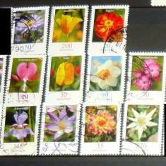 Lot / set timbre stampilate / uzate - NATURA - FLORI - 2009-2012 - GERMANIA - 2+1 gratis pt. produse la pret fix - CHA1461 - Timbre straine, Europa