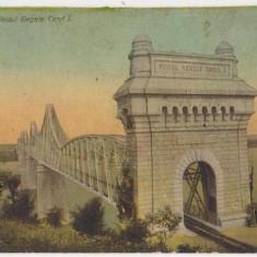 Cernavoda, Podul Regele Carol I, circulata la Alexandria, francata, 1911