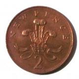 G5. ANGLIA / MAREA BRITANIE 2 NEW PENCE 1971, 7.12 g., Bronze, 25.91 mm **, Europa