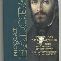 ROMANIA 10 LEI 2009, NICOLAE BALCESCU, 190 Ani - Nastere, AG, certif BNR - Moneda Romania, Argint