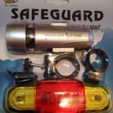 Stop + Lanterna cu suport pentru bicicleta - Accesoriu Bicicleta, Faruri si semnalizatoare