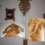 Orologiu  UNICAT din lemn , functional !
